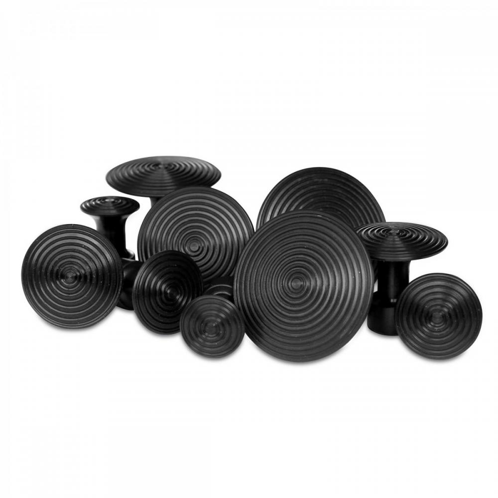 Detalhes do produto Kit ventosas Fast redonda preta com 10 unidades