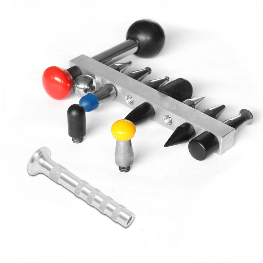 Detalhes do produto Kit ponteiras com 18 itens e pino de alumínio