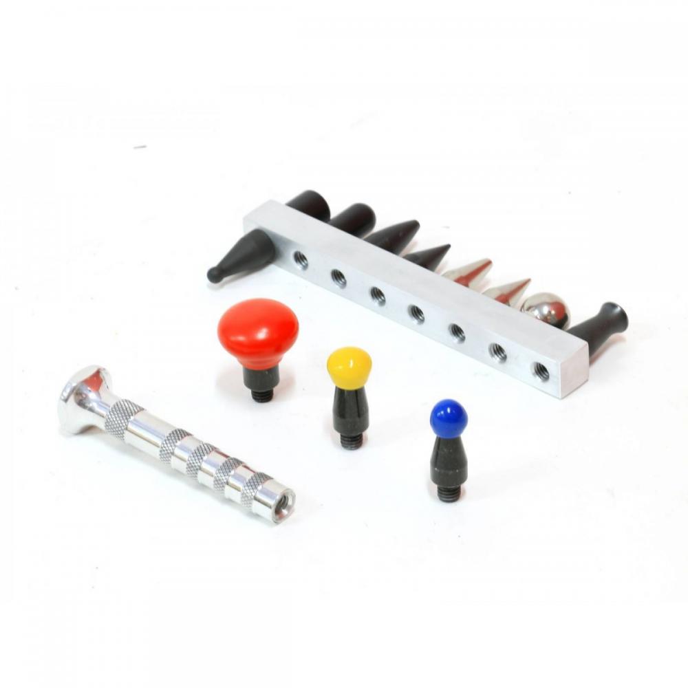Detalhes do produto Kit pino de alumínio com doze ponteiras roscadas