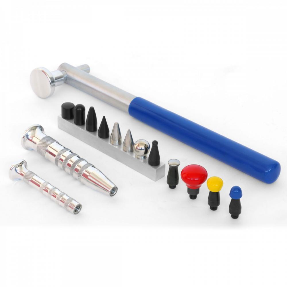 Detalhes do produto Kit martelo de alumínio 30cm com pinos roscados e ponteiras
